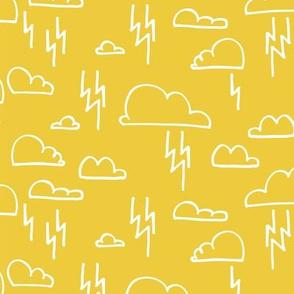 Clouds Lightning Yellow