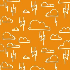 Clouds Lightning Orange