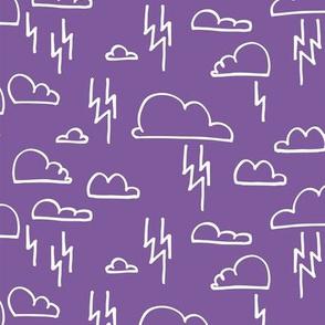 Clouds Lightning Purple