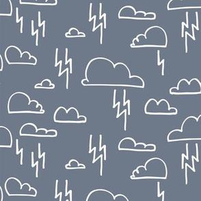 Clouds Lightning Ash