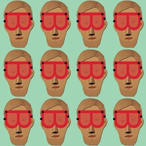 Men in Red Goggles