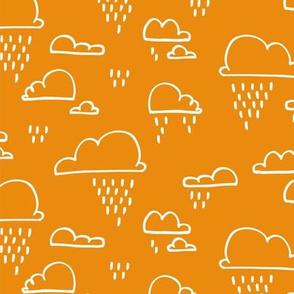Clouds Rain Orange