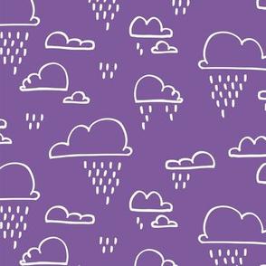 Clouds Rain Purple