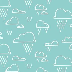 Clouds Rain Pale Blue