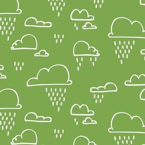 Clouds Rain Green