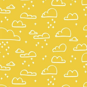 Clouds Snow Yellow