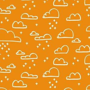 Clouds Snow Orange