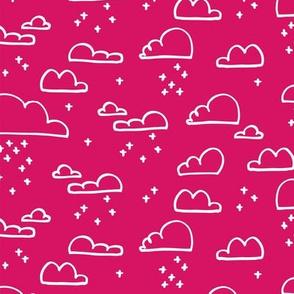 Clouds Snow Pink