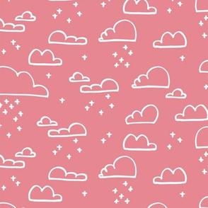 Clouds Snow Pastel Pink