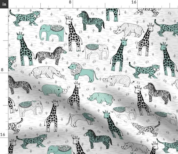 safari nursery fabric - safari nursery w - Spoonflower