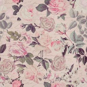 Vintage Chintz Rose Pattern
