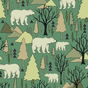 Woodland Bears - Small - Green