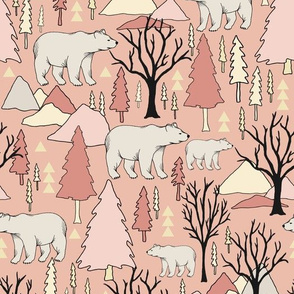 Woodland Bears - Medium - Pink