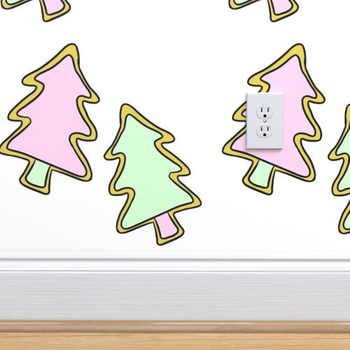 9398371 pastel christmas tree cookies by cozyreverie