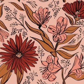 Chintz Floral - Blush