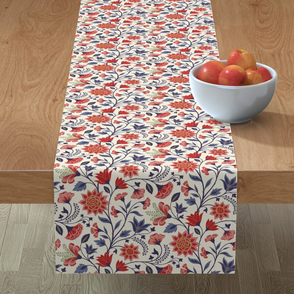 Minorca Table Runner featuring Chintz by ekpdesign