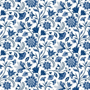 Chintz blue