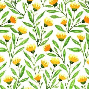 Yellow Meadow Chintz