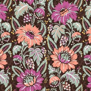 vintage floral Jacobean chintz