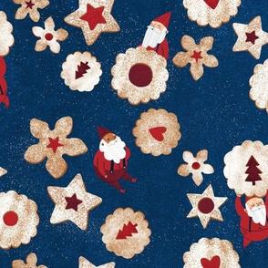 Christmas Linzer Cookie Elf Repeat