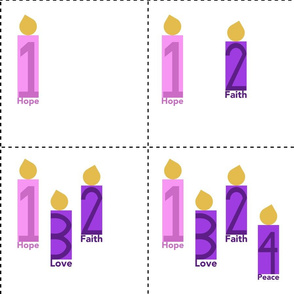 Advent Candles mini-hanging