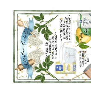 Elderflower Cordial Recipe Teatowel