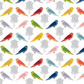 Cuckoo Birds - gray
