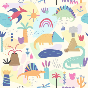 Colorful Dinosaur Pattern