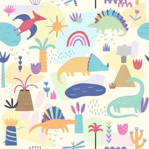 Colorful Dinosaur Wallpaper
