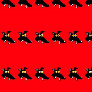 Row of Derps Red (martingales)