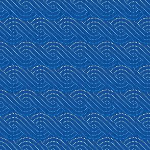Wave swirls - dark blue