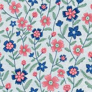 Chintz flowers pattern
