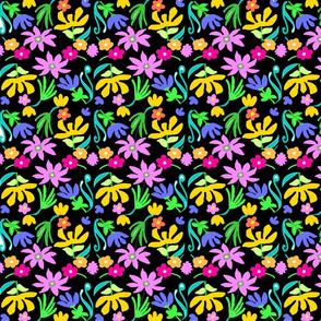 BRIGHT SPRING FLOWERS -BLACK  copy