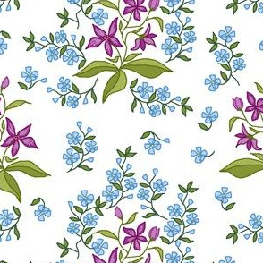 stylized chintz flowers