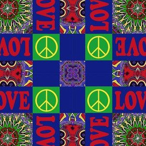 Seventies Plaid with Love and Peace