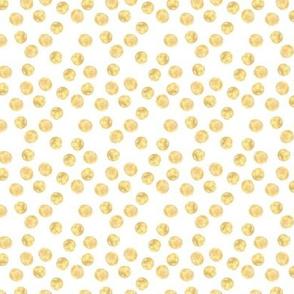 Lots of golden dots • polka dot