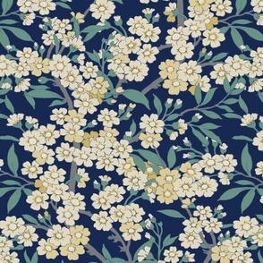 Floral on blue background