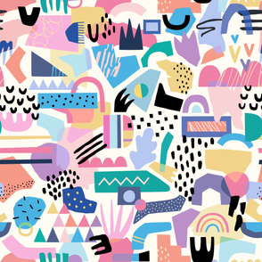 Abstract 80s Pattern