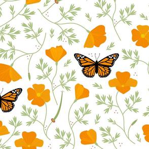 Lift California Poppies & Monarchs