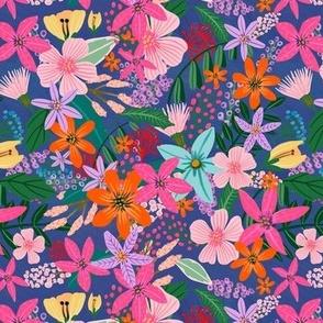 "7"" Vibrant Garden - Navy"