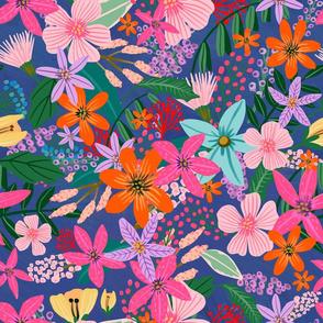 "18"" Vibrant Garden - Navy"