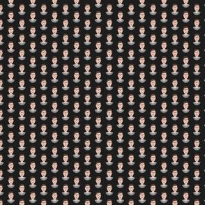Ruth Bader Ginsburg RBG Bust - Black Tiny