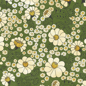 Chintz Meadow Green