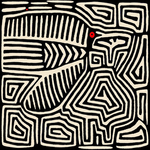 Kuna Indian Pajaro - Ivory Black