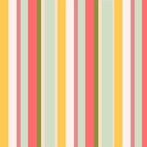chintzy rose stripes