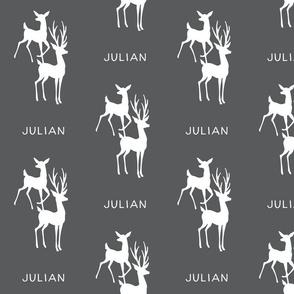 Buck & Doe - Personalized Name - Julian