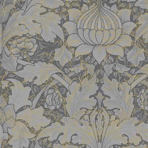 William Morris ~ Growing Damask ~ Grey Garden in the Mist