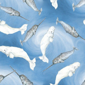 Deep Sea Narwhals And Beluga Whales
