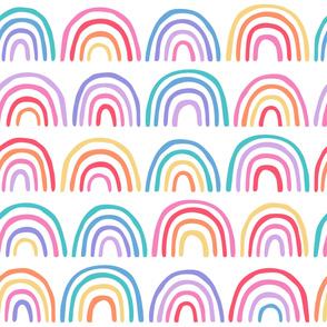 Rainbow Pattern on White Background
