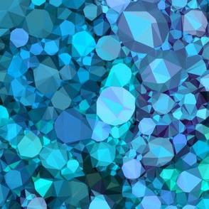 Sparkly Teal and Aqua Jewels
